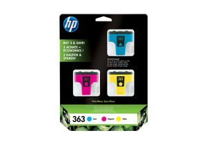 TechLogics - HP 363 INK CARTRIDGE CYAN, MAGENTA AND YELLOW 3-PACK WITH VIVERA INKS