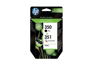 TechLogics - HP 350/351 Combo-pack Inkjet Print Cartr