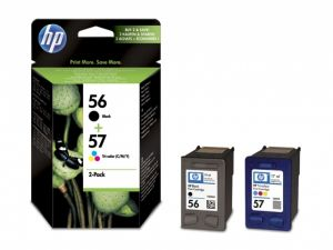 TechLogics - HP 56/57 Ink Cart 2-Pack promo blk/color