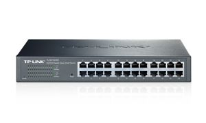 TechLogics - SWITCH 24-Port Gigabit Easy Smart Switch. 24 10/100/1000Mbps RJ45 ports. MTU/Port/Tag-based VLAN. QoS. IGMP Snooping