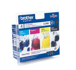 TechLogics - Brother (C) LC-980 Value Pack 22.5ml (Origineel)