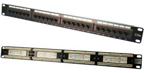TechLogics - LogiLink 1HE 19 patch panel CAT5e Zwart