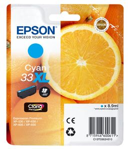 TechLogics - Epson T3362XL Cyaan 8,9ml (Origineel)