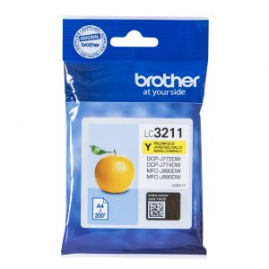 TechLogics - Brother LC-3211Y Geel 200 pagina's (Origineel)