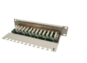 TechLogics - TOE 1U Patch Panel 12-port CAT6 STP Grijs LogiLink