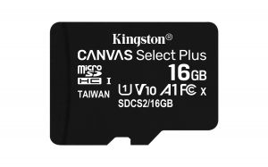 TechLogics - SDHC Card Micro 16GB Kingston UHS-I Canvas Select Plus