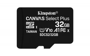 TechLogics - SDHC Card Micro 32GB Kingston UHS-I Canvas Select Plus