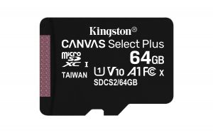 TechLogics - SDHC Card Micro 64GB Kingston UHS-I Canvas Select Plus