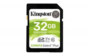 TechLogics - SDHC Card 32GB Kingston UHS-I Canvas Select Plus